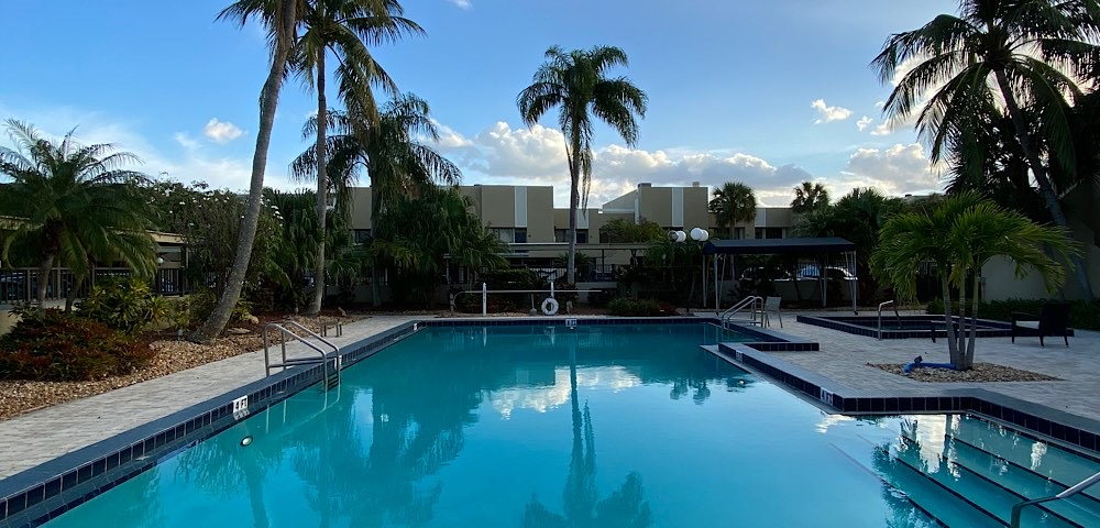 Pool of Nobel Point waterfront community in Pompano Beach